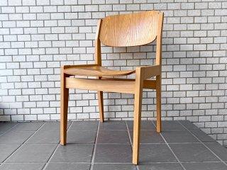 天童木工 TENDO ブックチェア ダイニングチェア 図書館椅子 オーク材 水之江忠臣 A ■
