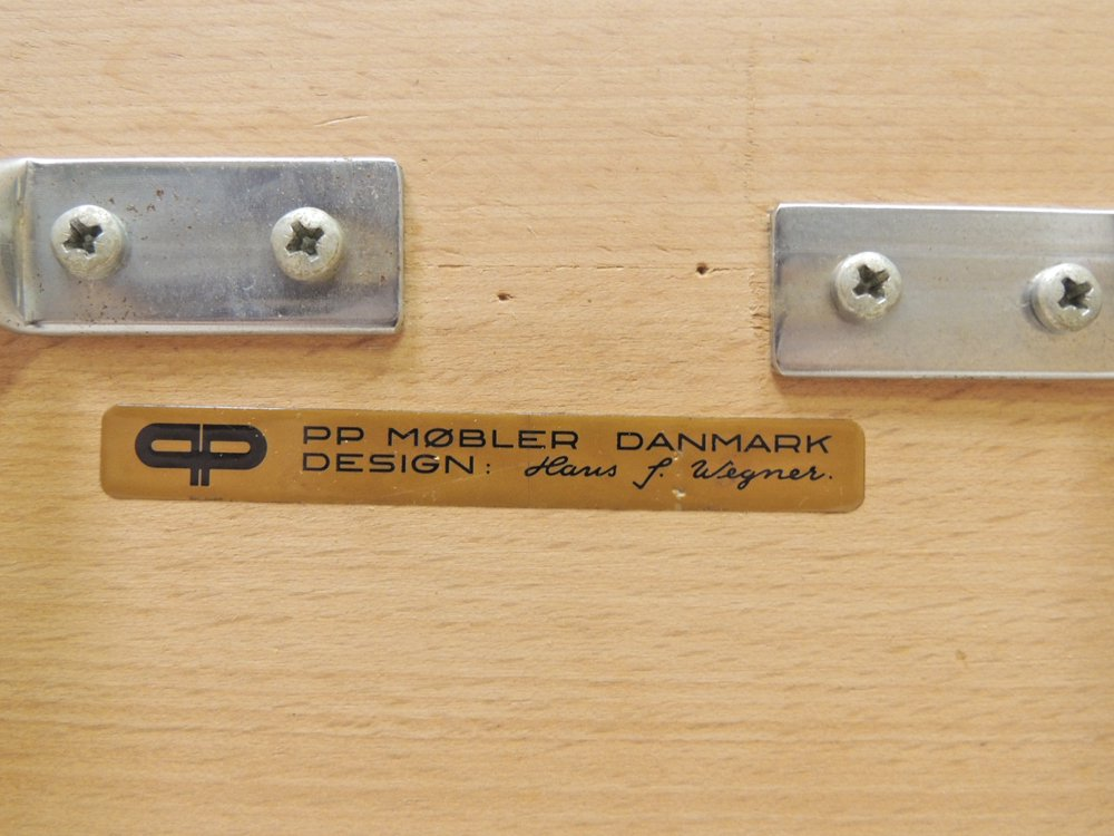 PPモブラー PP Mobler PP85 クロスレッグドテーブル オーク材×リノリウム天板  ハンス・J・ウェグナー Hans J.Wegner 北欧家具 デンマーク ビンテージ ●