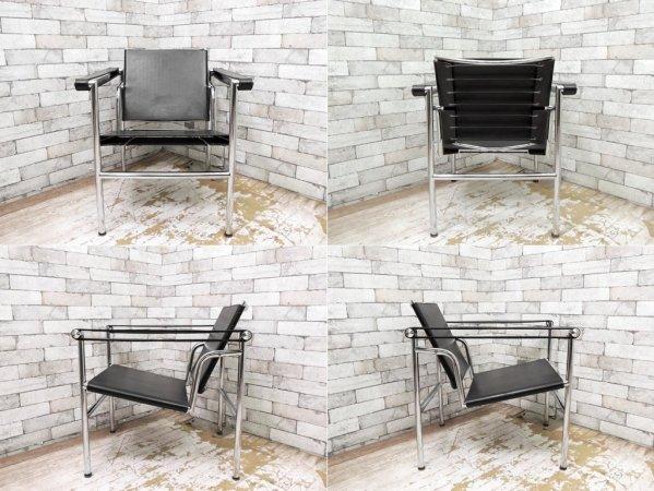ル・コルビュジェ Le Corbusier LC1 スリングチェア リプロダクト ブラックレザー ●