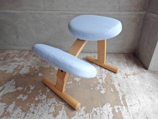 リボ Rybo バランスイージー Balans EASY デスクチェア 学習椅子 ブルー 青 北欧 ノルウェー カバー付き ♪