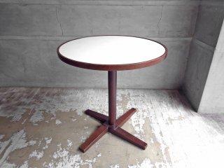 秋田木工 akimoku 曲木 ラウンドテーブル カフェテーブル ホワイト レトロ Φ60cm ♪