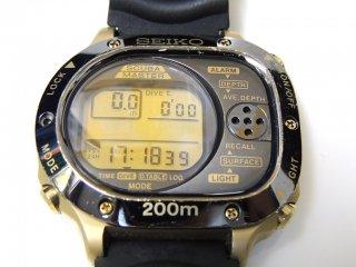 セイコー SEIKO スキューバマスター デジタルダイバー 200m M725-5A00 1990年製 ダイバーウォッチ ダイビングコンピューター ●