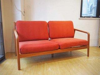 宮崎椅子製作所 Miyazaki Chair Factory ペペ 2シーター ソファ PePe Sofa ブラックチェリー 村澤 一晃 ★