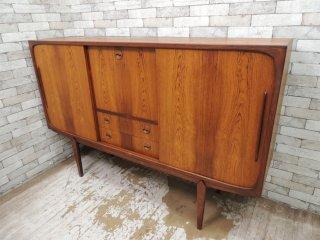 北欧ビンテージ Scandinavian vintage ローズウッド材 サイドボード カクテルキャビネット ルイス購入 W176cm ●