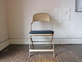 クラリン CLARIN フォールディングチェア 折り畳み式 Folding chair SANDLER ブラック ファブリッククッション D ◎