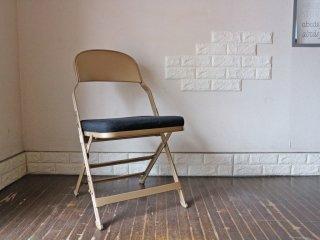 クラリン CLARIN フォールディングチェア 折り畳み式 Folding chair SANDLER ブラック ファブリッククッション C ◎