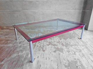 カッシーナ Cassina LC10-P ローテーブル センターテーブル コーヒーテーブル ボルドー ル・コルビジエ Le Corbusier 定価¥39.6万 ♪