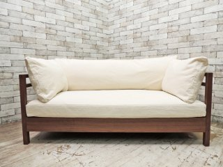 広松木工 Hiromatsu Furniture Inc. リポーゾ RIPOSO 2P ソファ 140 ピエトラ 帆布生地 karf購入品 ●