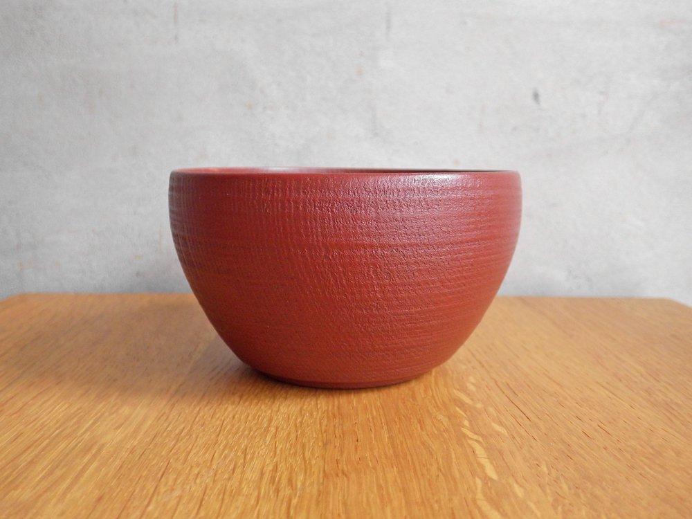 赤木明登 楡の鉢シリーズ 茶碗 4寸 赤 漆 伝統工芸 A ♪