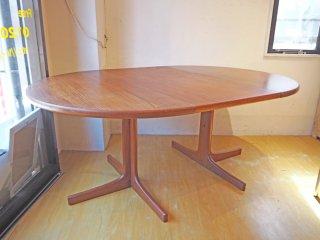 北欧ビンテージ Scandinavian vintage チーク材 ラウンド エクステンションダイニングテーブル ★