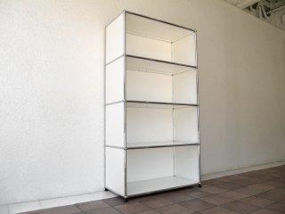 ユーエスエムハラーシステム USM Haller ユニット1×4ステージ シェルフ ピュアホワイト 定価¥150,372- ストレージシステム オフィス家具 本棚 店舗什器 MoMA スイス ◇