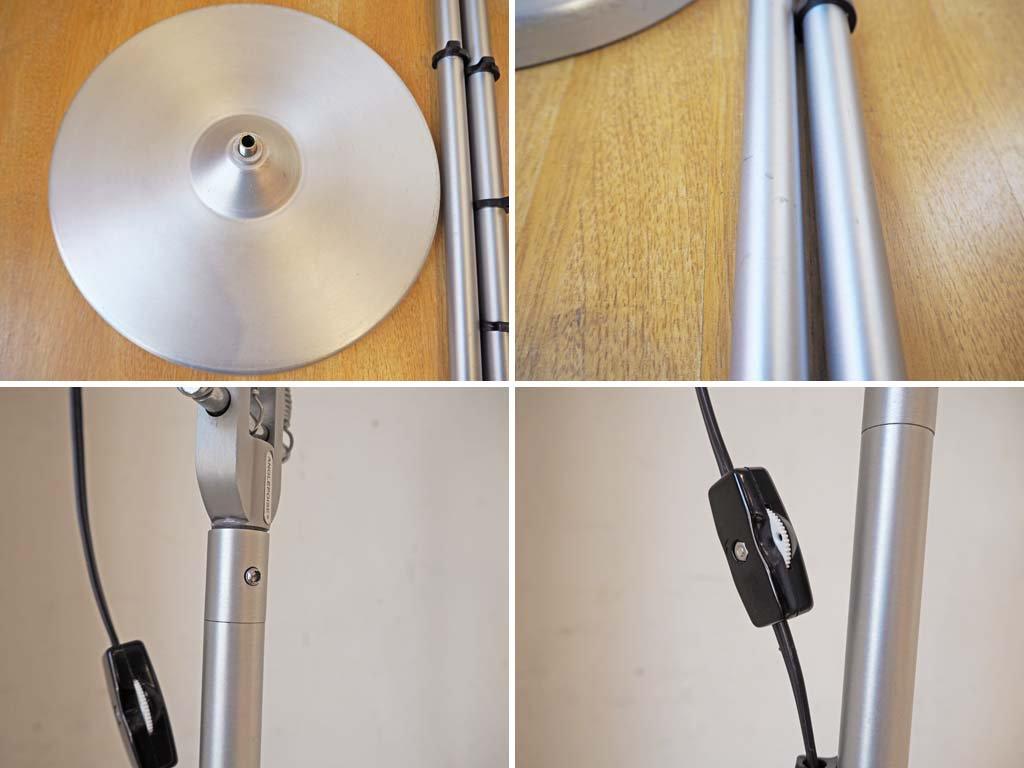 アングルポイズ ANGLEPOISE Type 75 DeskLamp Floor Standing Pole set フロアランプ デスクランプ シルバー ケネス・グランジ ★