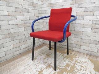 ノール Knoll マンダリンチェア mandarin chair ダイニングチェア エットーレ・ソットサス ポストモダン イタリア 定価 ¥93,500- A ●