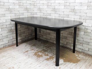モダンデザイン Modern design 伸長式 ダイニングテーブル ブラック エクステンション ●