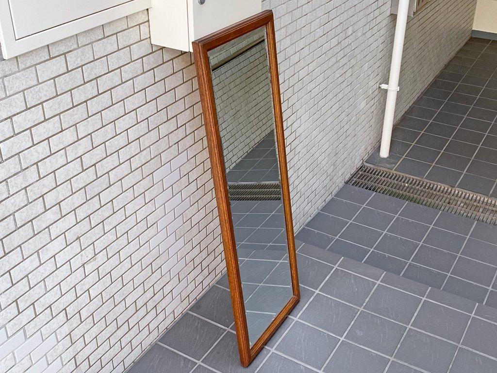三越ブルージュ Brugge スタンドミラー 英国カントリースタイル ナラ無垢材 全身鏡 姿見 ■