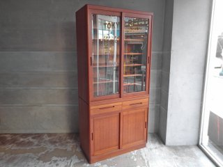 日田工芸 Hita Craft チークウッド 食器棚 カップボード 70's ビンテージ ミッドセンチュリー 北欧スタイル ♪