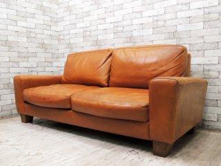 アクメファニチャー ACME Furniture フレスノ FRESNO ソファ 3シーター ヴィンテージスタイル オイルレザー 本革 ●