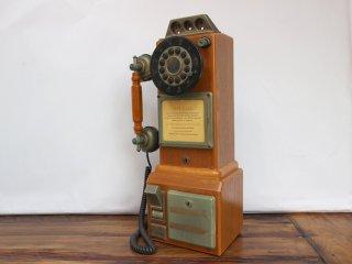 USビンテージ テレフォン USA 公衆電話 1950's アメリカ レトロ 電話機 オブジェ ◎