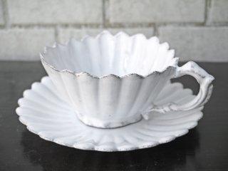 アスティエ・ド・ヴィラット Astier de Villatte マーガレット Marguerite ティーカップ&ソーサー A ■
