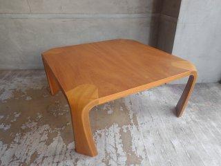 天童木工 Tendo プライウッド 座卓 欅材 ローテーブル W75cm 乾三郎 デザイン ♪