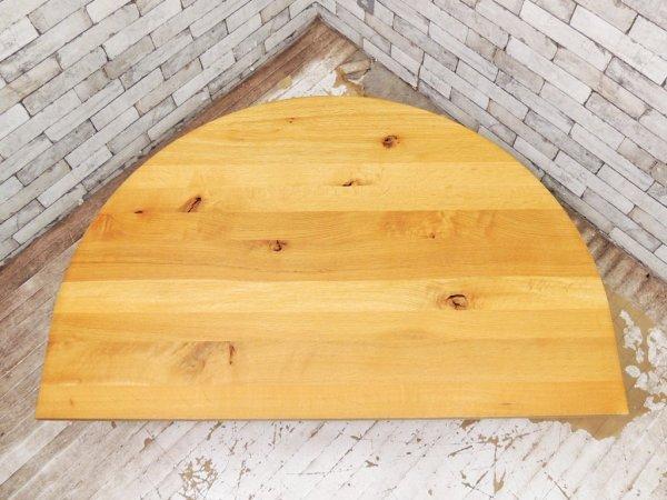 飛騨産業 HIDA 森のことば オーク無垢材 半円形 リビングテーブル ローテーブル 佐々木敏光 ●