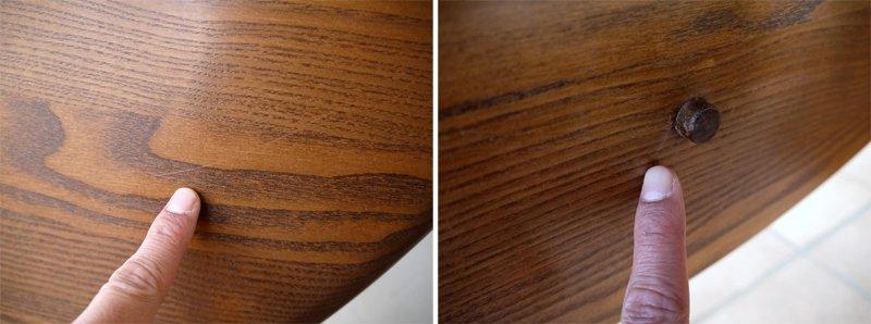 アーコール ercol オリジナルス ゲートレッグ ドロップリーフテーブル 1156 丸型天板 楡無垢材 約35万以上 英国製 バタフライテーブル イギリス EXテーブル UK  極美品 現行品◇