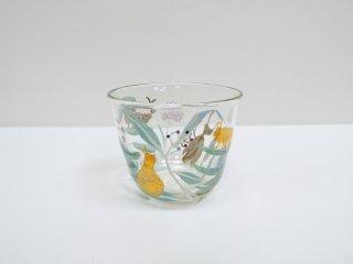 松岡装子 グラス 芋虫 現代作家 ●