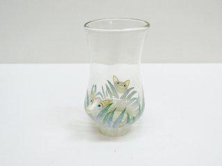 松岡装子 顔出しグラス キツネ 現代作家 ●