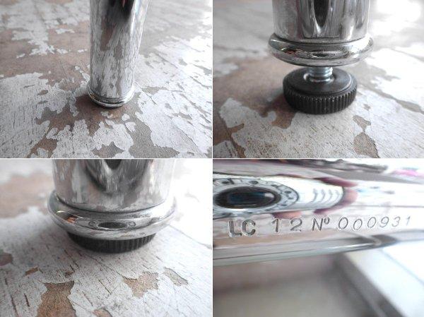 カッシーナ Cassina LC12 ダイニングテーブル クリアガラス 幅120cm ル・コルビジェ デザイン 参考価格:¥429,000ー♪