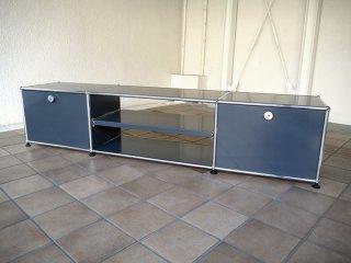 ユーエスエムハラーシステム USM Haller テレビボード W1775 アントラサイト 定価¥179,496- ローボード キャビネット AVボード オフィス家具 MoMA スイス製 ◇