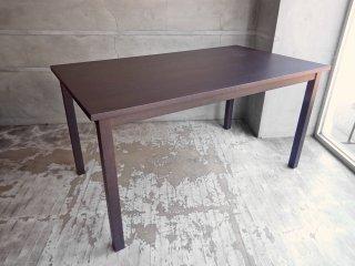 無印良品 MUJI タモ材 ダイニングテーブル ブラウン W140cm ♪