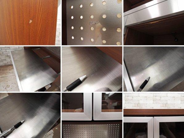 ウニコ unico ストラーダ STRADA キッチンボード レンジボード 食器棚 アッシュ材 W80cm オープンタイプ 廃番 ●
