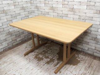 フレデリシア FREDERICIA C18 ダイニングテーブル オーク材 W140cm ボーエモーエンセン B. Mogensen 定価\437,000- 展示美品 ●