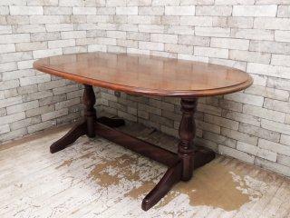 柏木工 KASHIWA ナラ無垢材 リビングテーブル ダイニングテーブル クラシカルスタイル ●