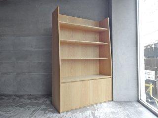 オーダー家具 ブックシェルフ キャビネット オーク材 ナチュラルデザイン 店舗什器 ♪