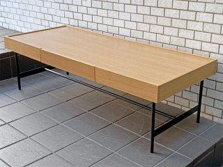 ウニコ unico ホクストン HOXTON センターテーブル アッシュ × アイアン ローテーブル インダストリアル モダン ■