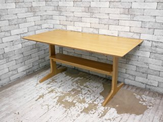 無印良品 MUJI リビングでもダイニングでもつかえる テーブル オーク材 W130cm シンプル ナチュラルデザイン ●