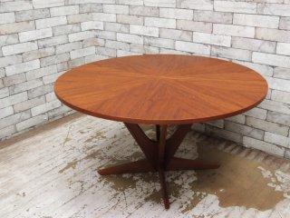 Kubus スターバースト コーヒーテーブル StarBurst Coffee table 60's ビンテージ チーク材 ジョージ・ジェンセン Georg Jensen デンマーク 北欧 展示品 ●