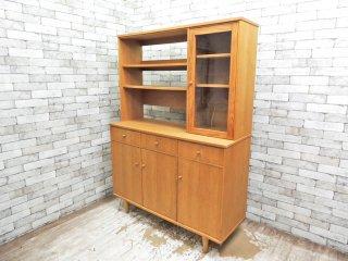 モモナチュラル Momo Natural ベント VENT オーク材 キッチンボード カップボード 食器棚 ◇