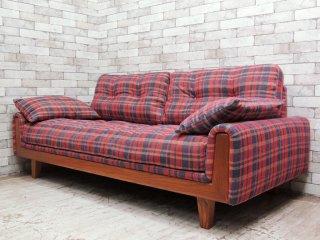 アクメファニチャー ACME Furniture ウィンダン WINDAN ソファ 3人掛け チェック柄 アメリカンヴィンテージスタイル 美品 ●