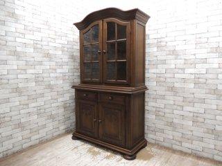 オランダ ナラ材 カップボード 食器棚 クラシカルデザイン 定価¥329,000- ●