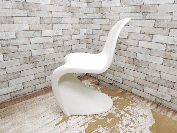 ヴィトラ vitra パントンチェア Panton Chair ホワイト ヴェルナー・パントン Panton スタッキングチェア ミッドセンチュリー スペースエイジ ●