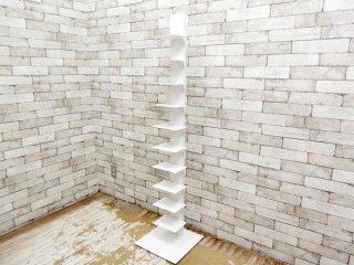 シンテシ SINTESI サピエンスブックタワー タワー型シェルフ 本棚 ホワイト ブルーノ・レイナルディ イタリア ●