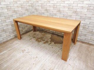 イデー IDEE マシーフ MASSIF ダイニングテーブル 18 オーク無垢材 ナチュラル 定価¥414,750- 廃番 ●