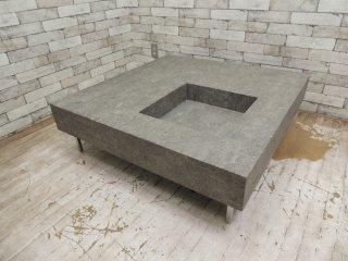 フクラ HUKLA ELT001 石材 スクウェア リビングコーヒーテーブル ●