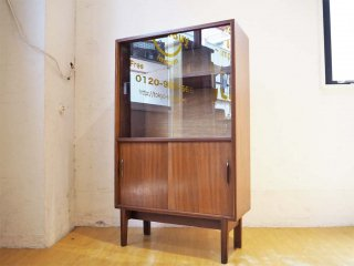 Beaver & Tapley 英国 ヴィンテージ UK vintage ミニキャビネット カップボード ガラス戸 チーク材 ミッドセンチュリー ★