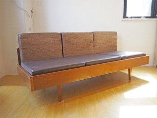 パシフィックファニチャーサービス Pacific furniture service P.F.S クラブシックス CLUB 6 ソファ 3シーター オーク材 ★