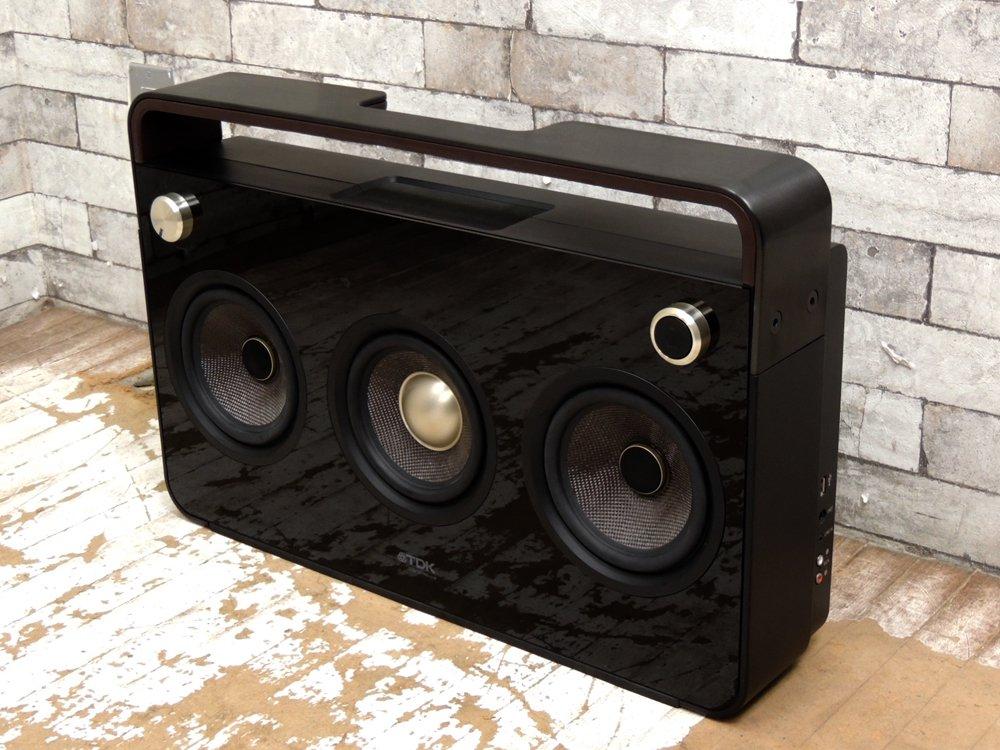 TDK 3Speaker Boombox SP-XA6803 社外スピーカースタンド&レシーバー セット 2.1chステレオ アクティブスピーカー オーディオ ●