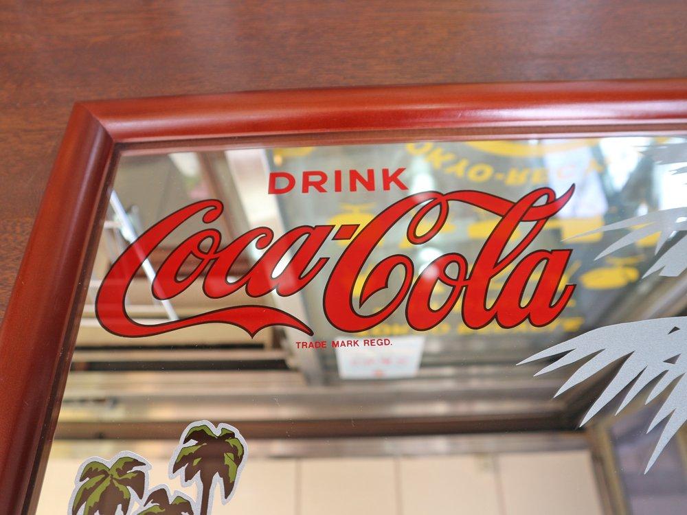 コカ・コーラ Coca Cola パブミラー ウォールミラー DRINKロゴ ◎