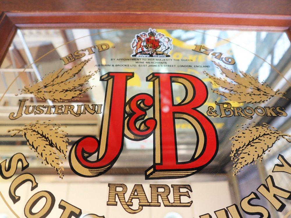 ジャステリーニ&ブルックス J&B パブミラー ウォールミラー ヴィンテージ Vintage ◎